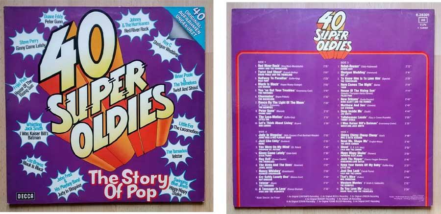 40 Super Oldies - The Story Of Pop auf Vinyl