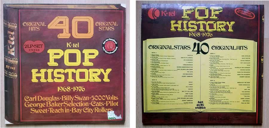 Original Hits Original Stars, Pop-History, Doppelalbum