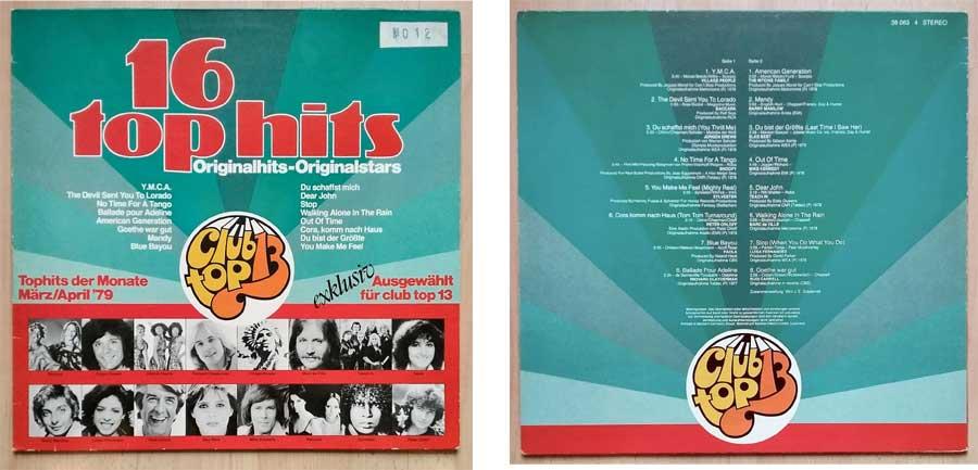Schallplattenfans, Exklusiv gewählt für Club Top 13