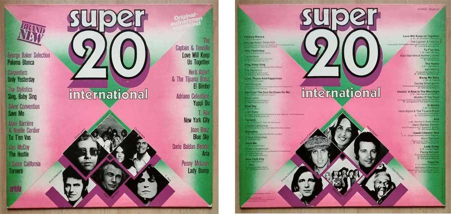 Schallplatte mit den Super 20 International von 1975