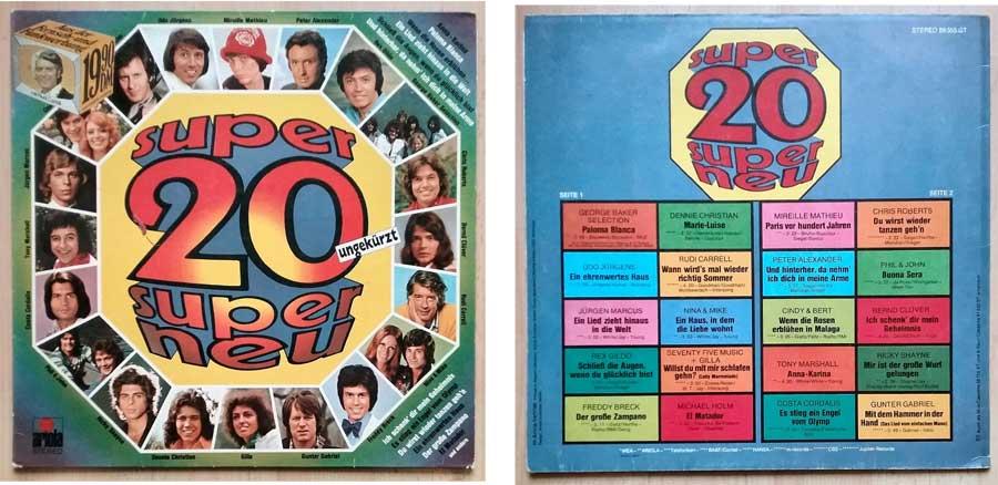 LP, Vinyl von 1975 mit den Super 20 Super Neu ungekürzt