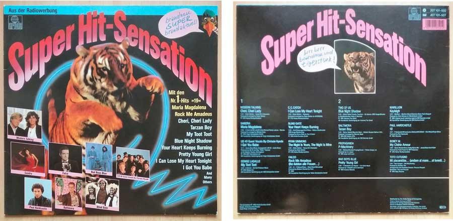 Schallplatte aus der Radiowerbung die Super Hit-Sensation
