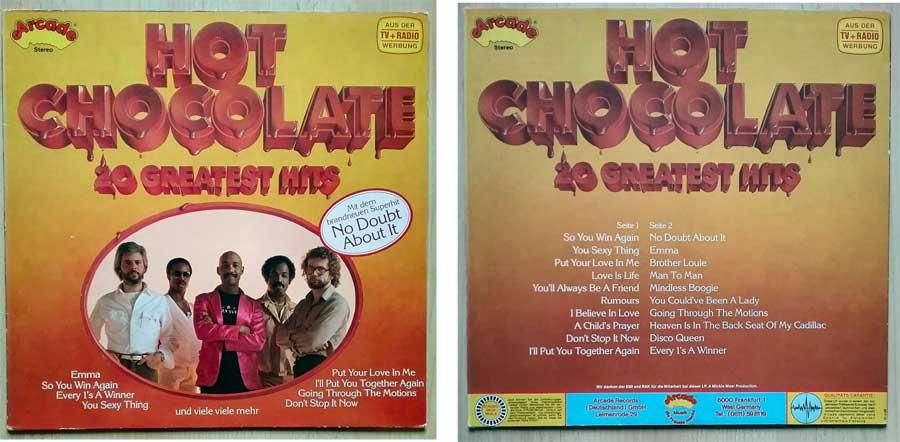 Schallplatte von Hot Chocolate. 20 Größten Hits