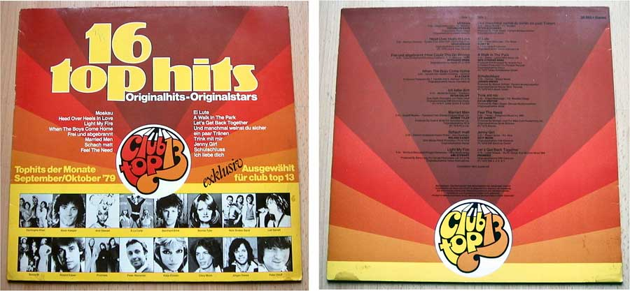 16 Top Hits - Originalhits-Originalstars - LP Vinyl von 1979