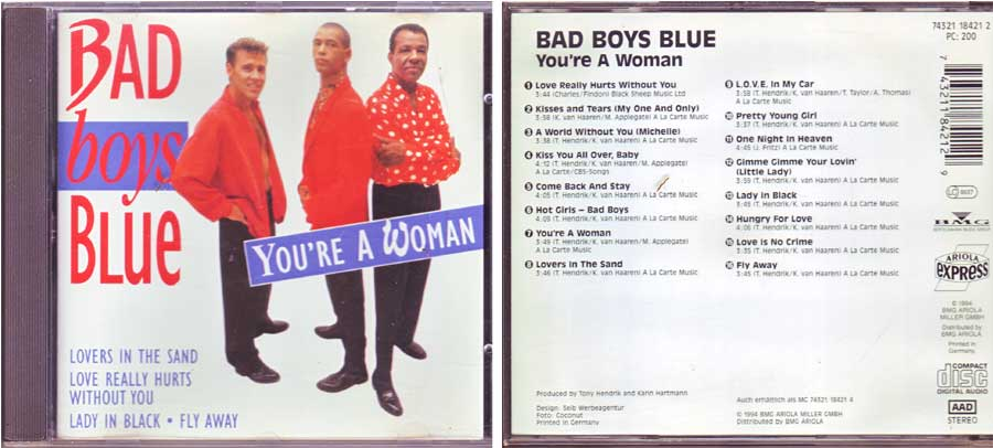 Bad Boys Blue ‎– You're A Woman - CD von 1994