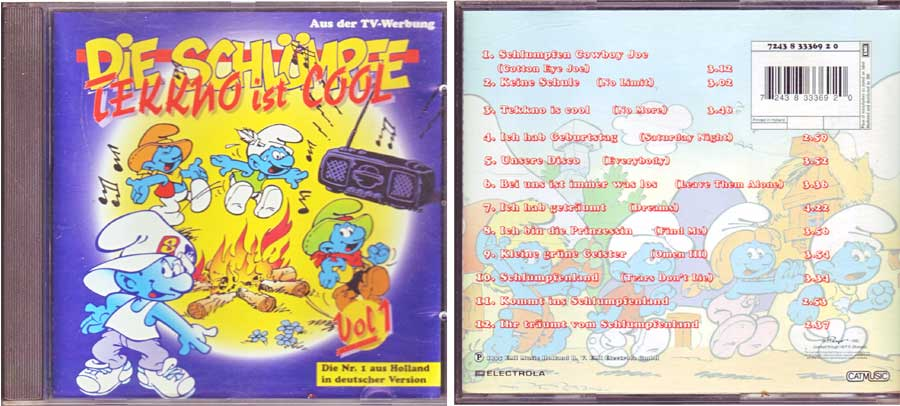Die Schlümpfe - Tekkno Ist Cool - CD von 1995