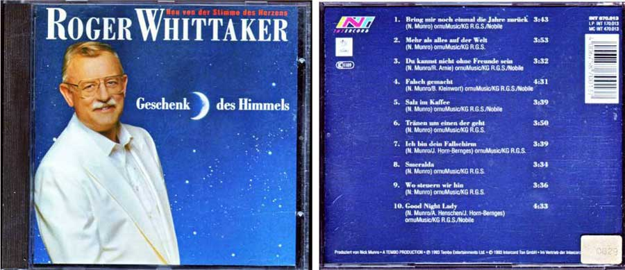 Roger Whittaker - Geschenk des Himmels von 1993