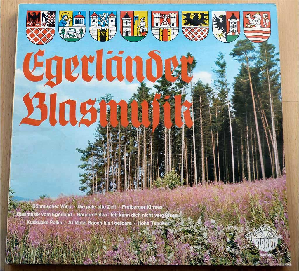 Egerländer Blasmusik auf Schallplatte