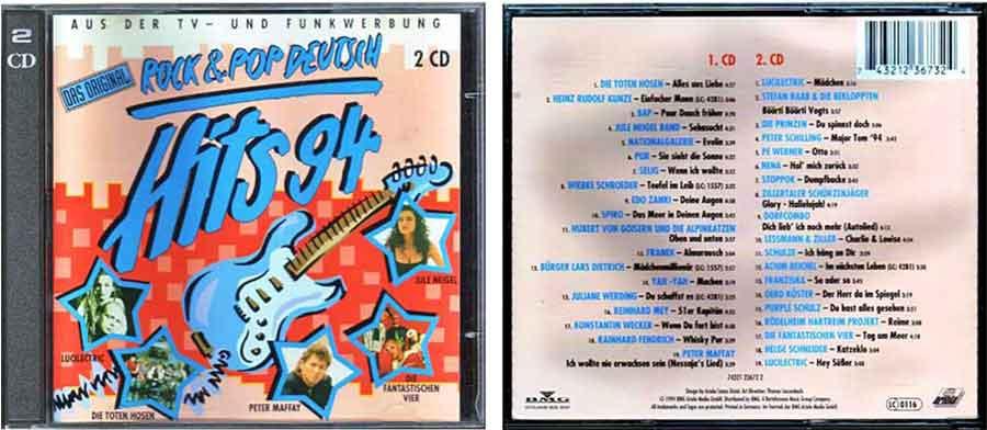 cd hits 1994 deutsch rock
