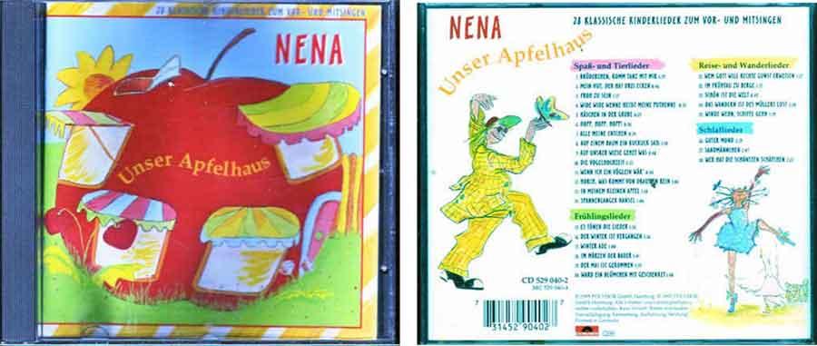 CD Album von Nena unser Apfelhaus - Kinderlieder zu mitsingen