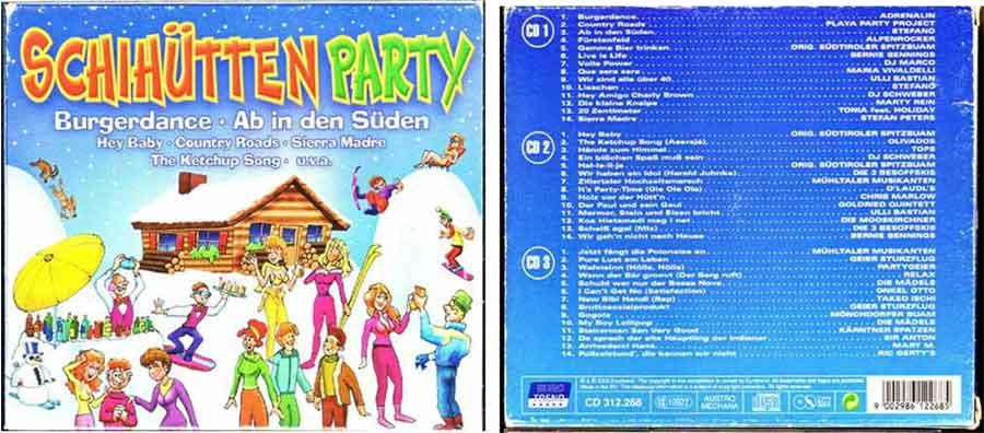 Partyhits auf 3 CDs mit Deutschem Schlager