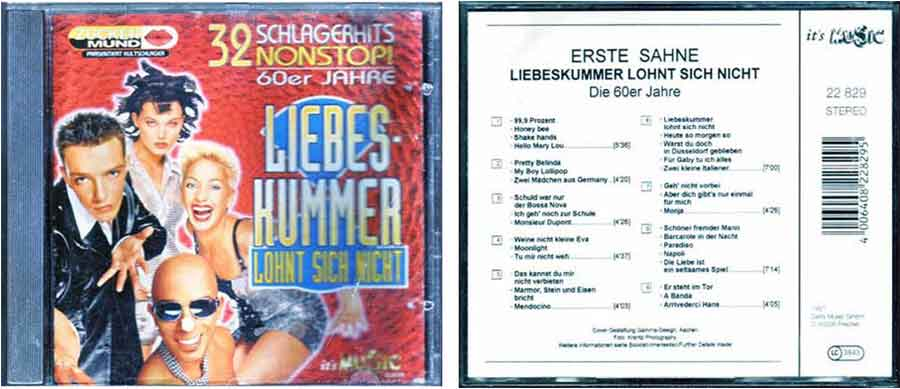 Tophits 60er Jahre auf CD - Deutsche Schlager