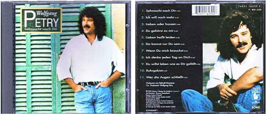 CD Wolfgang Petry Sehnsucht - Deutsche Schlager