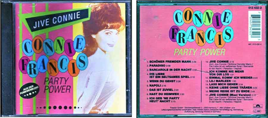 Musikcharts CD Connie Francis Party-Power