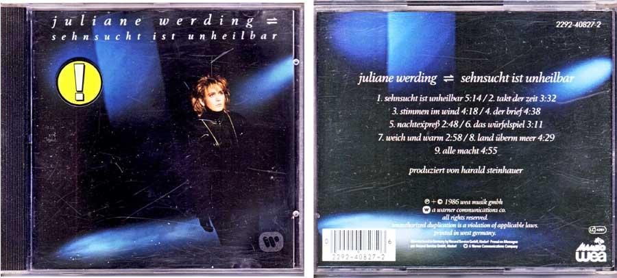 Juliane Werding – Sehnsucht Ist Unheilbar auf CD