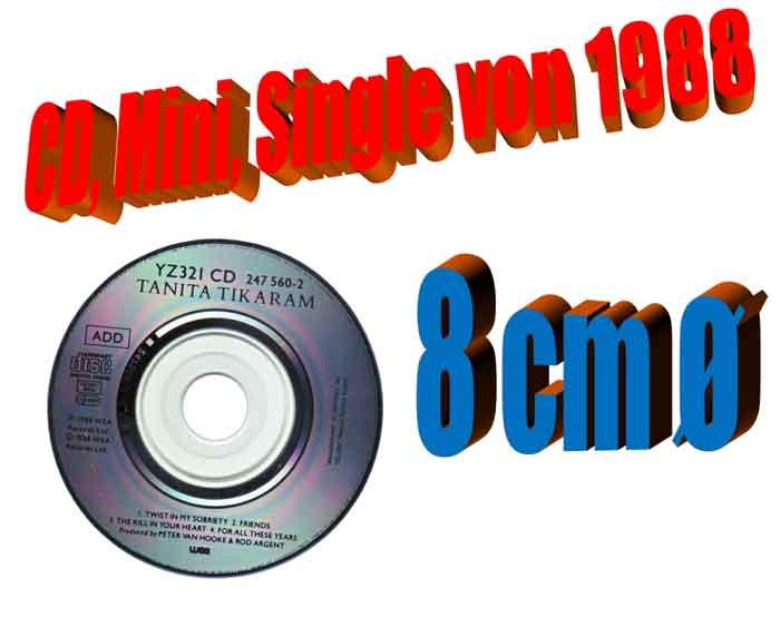 CD Mini Single 8cm für Sammler