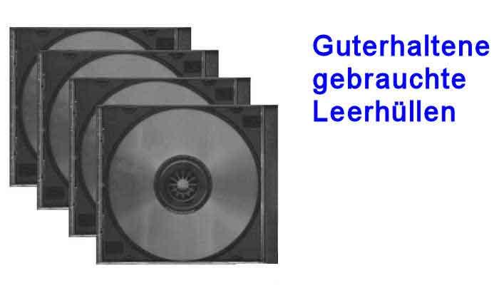 Banner gebrauchte CD Leerhüllen zum austauschen