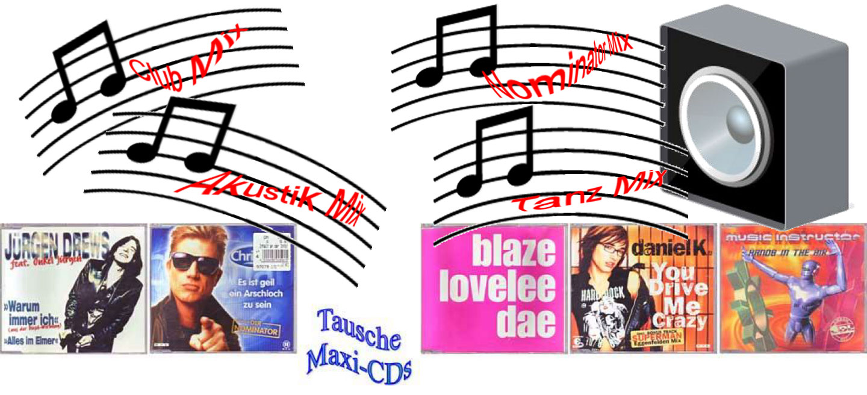 Gebrauchte Maxi-CDs, biete die hier zum tausch an