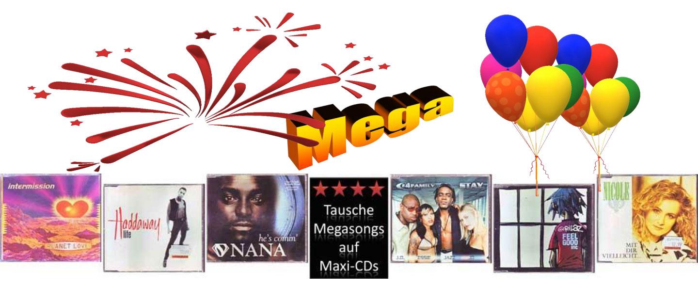 Megasongs von Mega-Stars auf gebrauchten Maxi-Cds