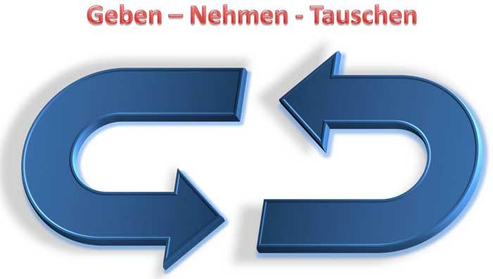 Geben, Nehmen, Tauschen- Banner