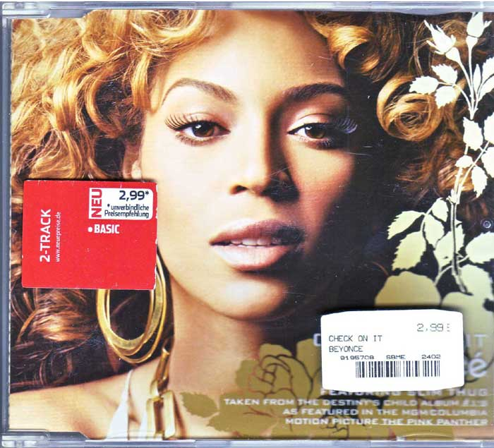 Beyonce Featuring Slim Thug ‎– Check On It auf Maxi-CD