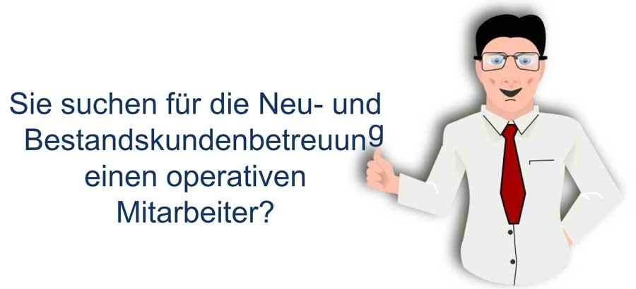Bestandskundenbetreuung - Banner für die Online-Bewerbung