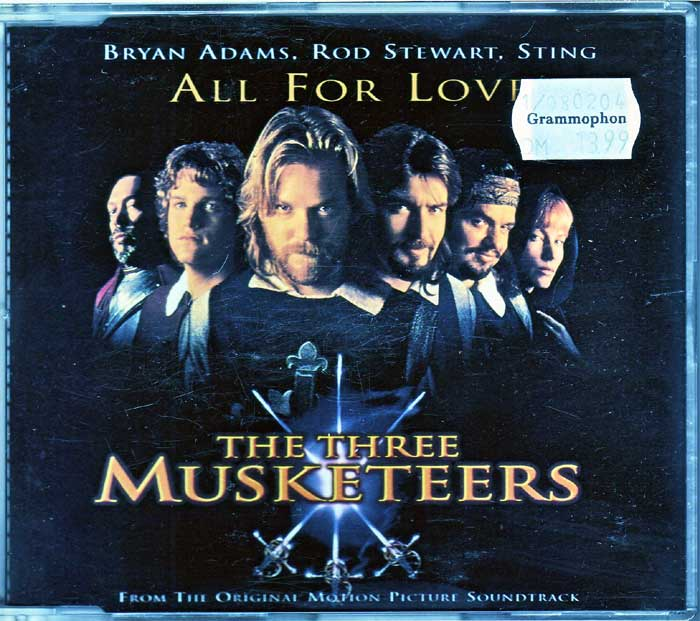 All For Love - The Three Musketeers - Musik auf Maxi-CD
