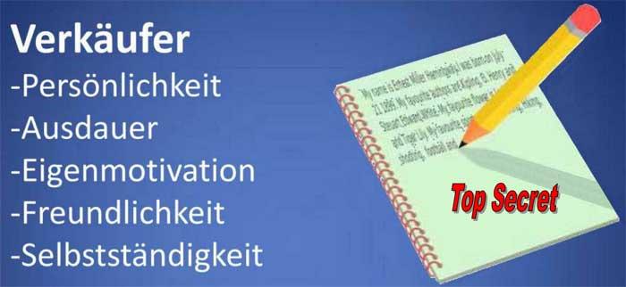 Online-Bewerbung - Banner mit Ausdauer, Eigenmotivation