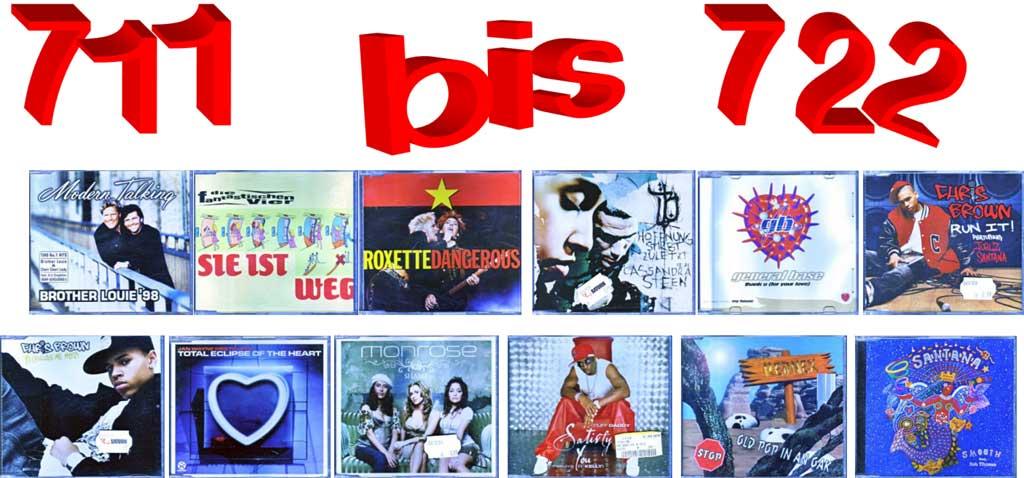 Spitzensongs 711 bis 722 auf CD mit Englischen Tophits