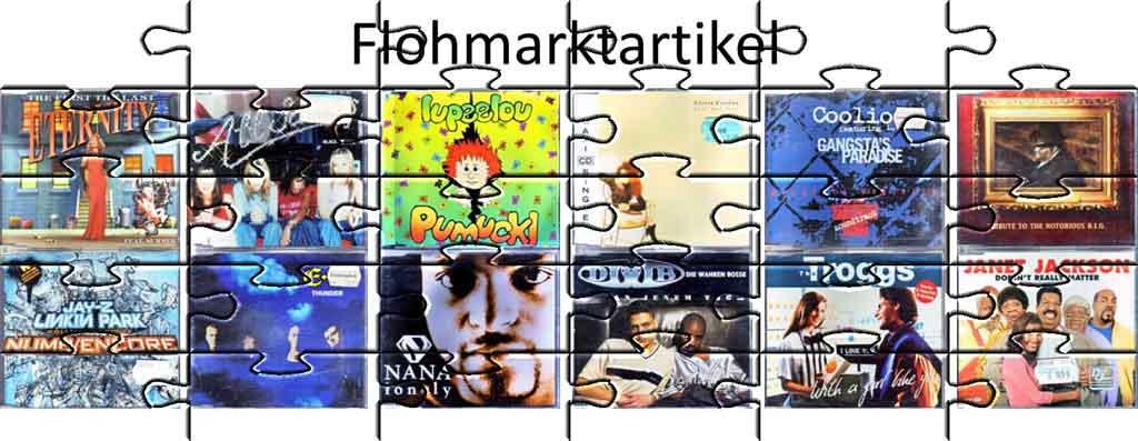 Flohmarktartikel zum tauschen auf dem Trödelmarkt - Banner