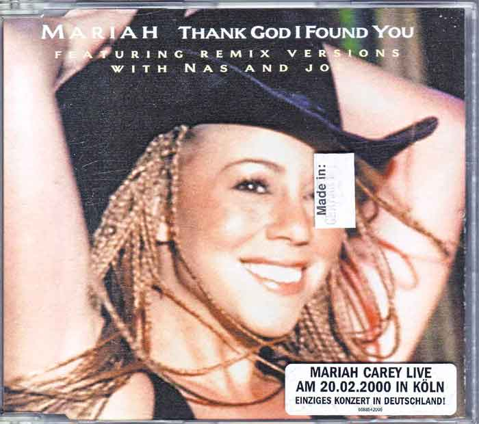 Mariah Carey – Thank God I Found You - Maxi-CD
