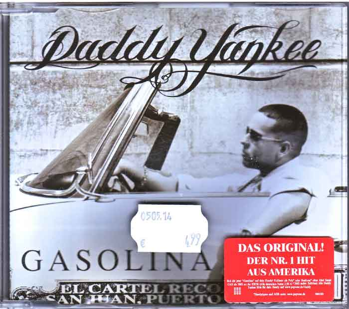 Daddy Yankee ‎– Gasolina - Musik auf CD, Maxi-Single