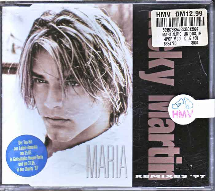 Ricky Martin ‎– Maria Remixes - Musik auf CD, Maxi-Single