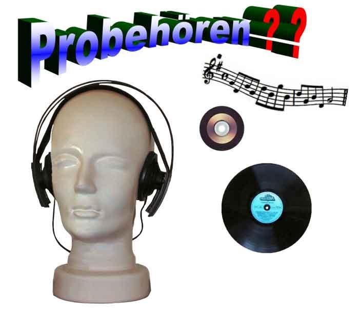 Schallplatten Fachgeschäft Banner Probehören