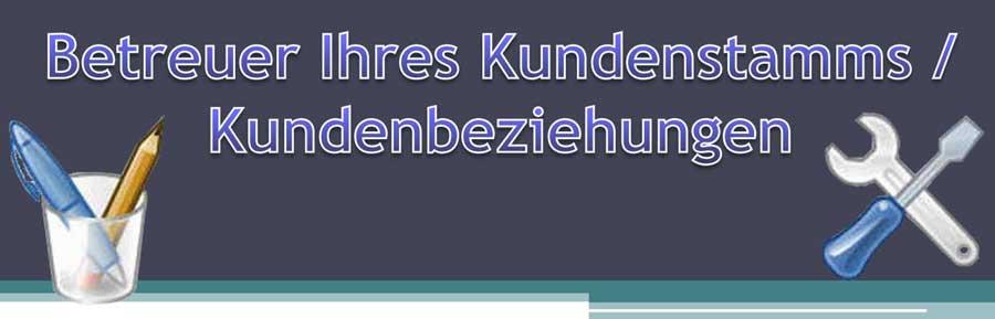 Kundenstamms Kundenbeziehungen Banner