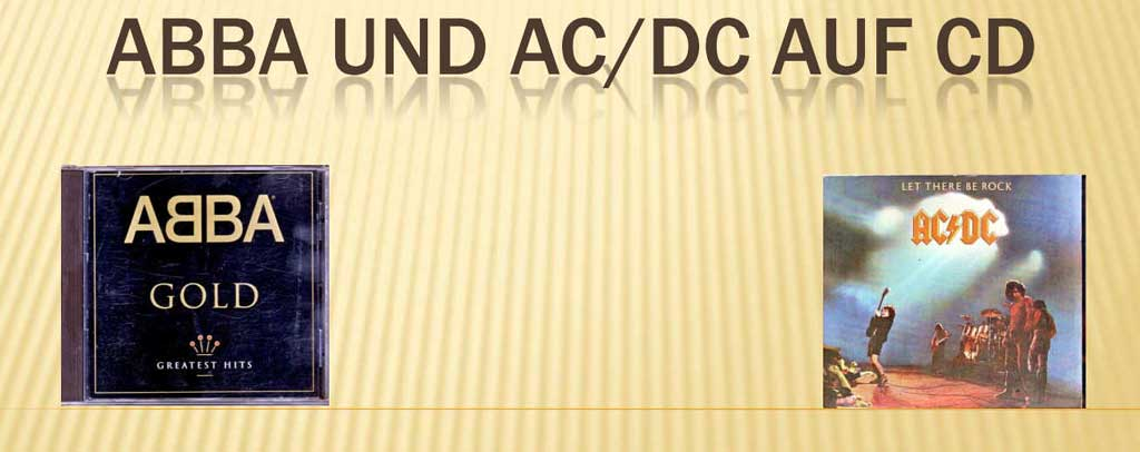 World Music Abba und AC/DC banner