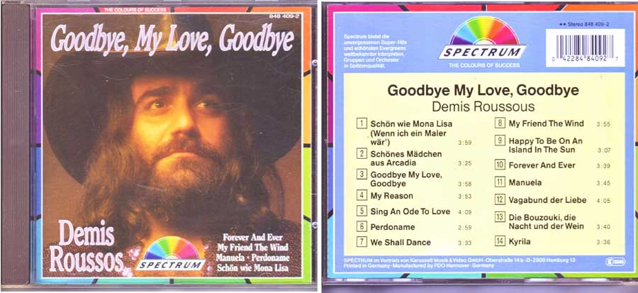 Demis Roussos - Goodbye My Love, Goodbye - CD von 1987