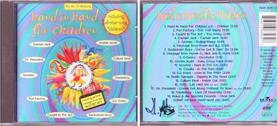 Hand In Hand For Children - CD von 1996