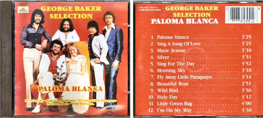 George Baker Selection - Paloma Blanca CD von 1987
