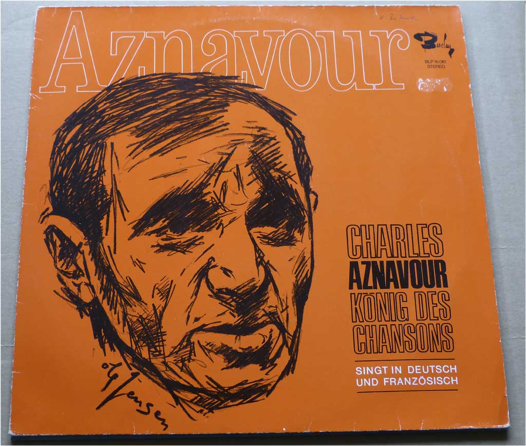 Schallplatte von Charles Aznavour