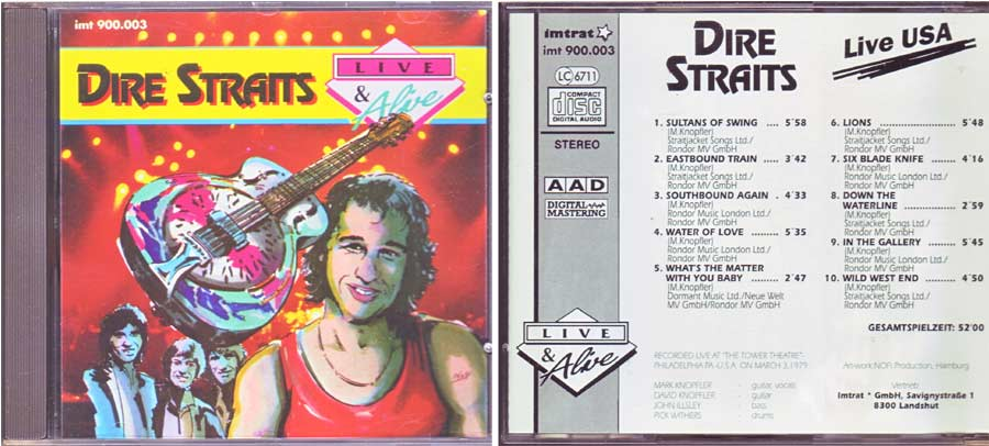 Klassiker, Dire Straits - Live USA - CD von 1992