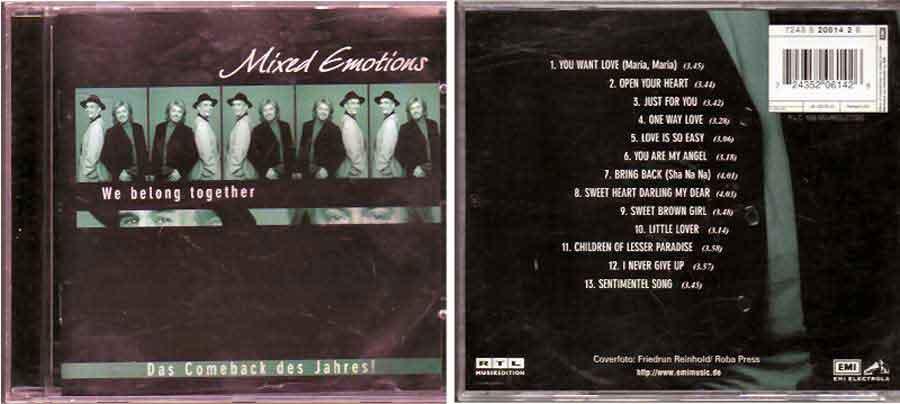 Mixed Emotions - We Belong Together - CD 1999