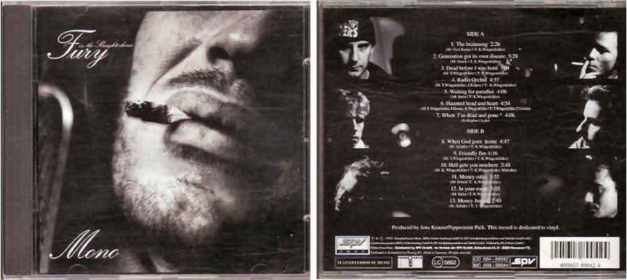 Mono - Fury In The Slaughterhouse - CD von 1993