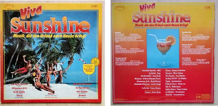 Langspielplatte Viva Sunshine - Musik und Urlaub