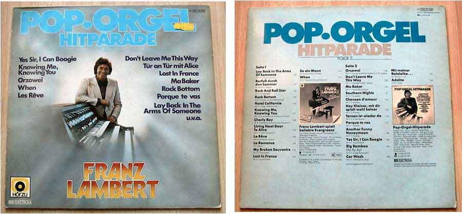 Franz Lambert - Pop Orgel - LP Vinyl von 1977