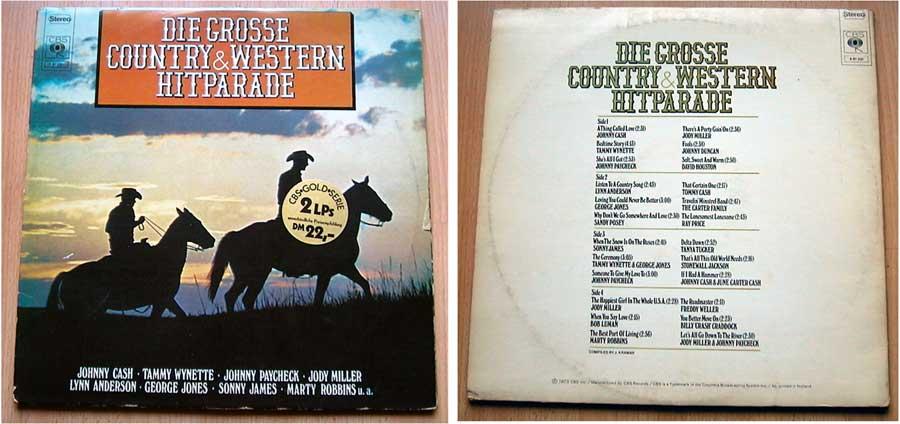 Die Grosse Country & Western Hitparade Doppel-LP Vinyl von 1973