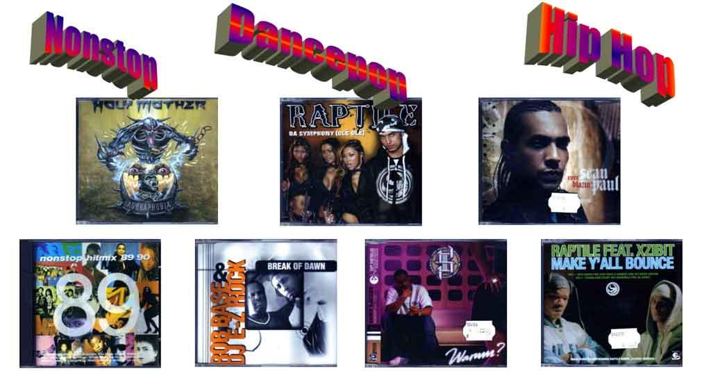 Nonstop Musik und Hip-Hop, Dance-Pop auf CD - Banner