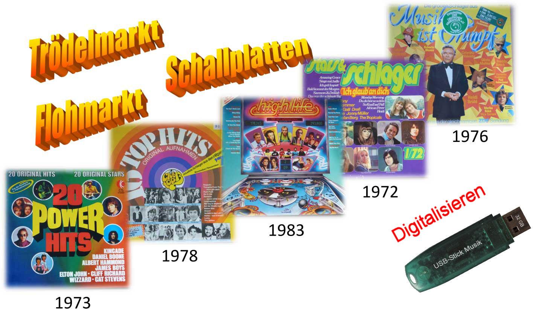 Flohmarktware Schallplatten