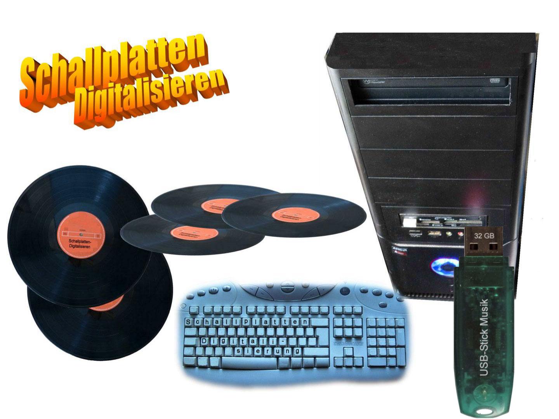 Flohmarktware Platten digital aufnehmen