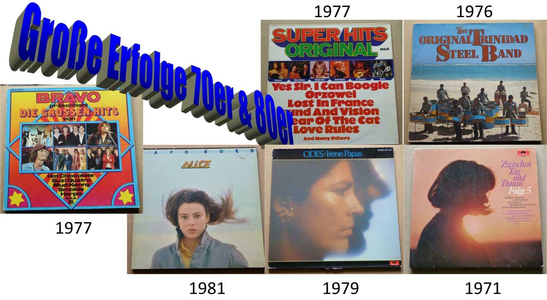 Unvergessen Schallplatten-Konvolut